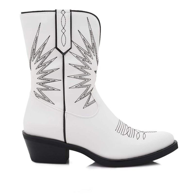 cowboy λευκές μπότες