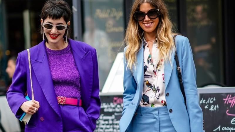 πολύχρωμα κοστούμια street style