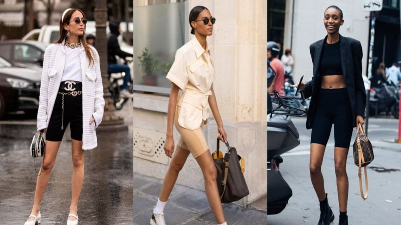 cycling shorts street style looks