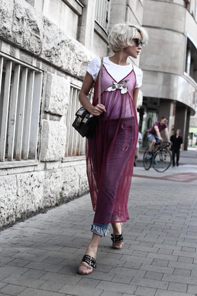 διάφανο lingerie με τζιν