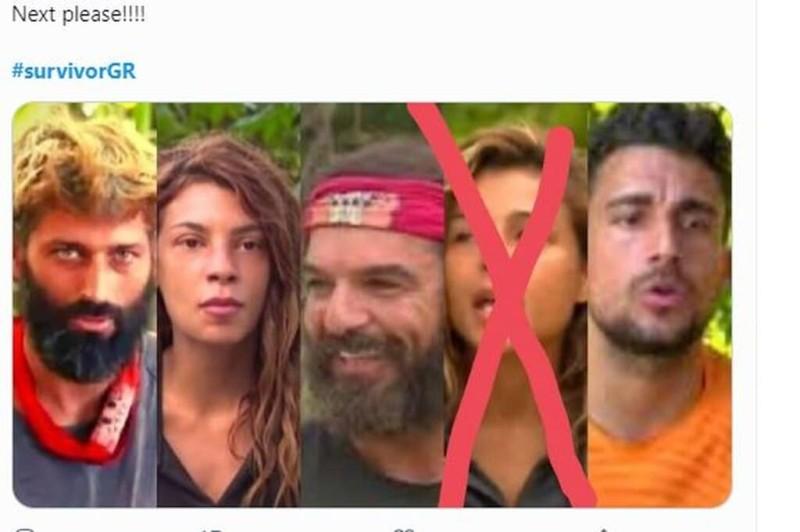 Survivor 4 tweets Σάκης Μαριαλένα Παππας