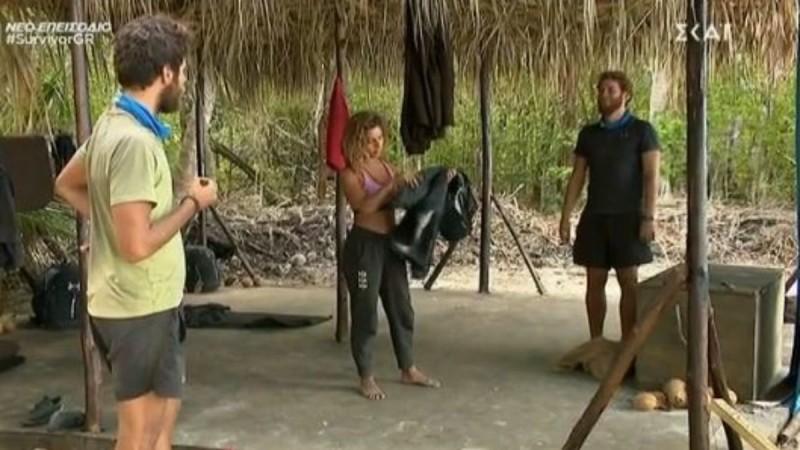 Survivor 4: Η Ελευθερίου έβγαλε κλέφτες τον Τζέιμς και το Νίκο