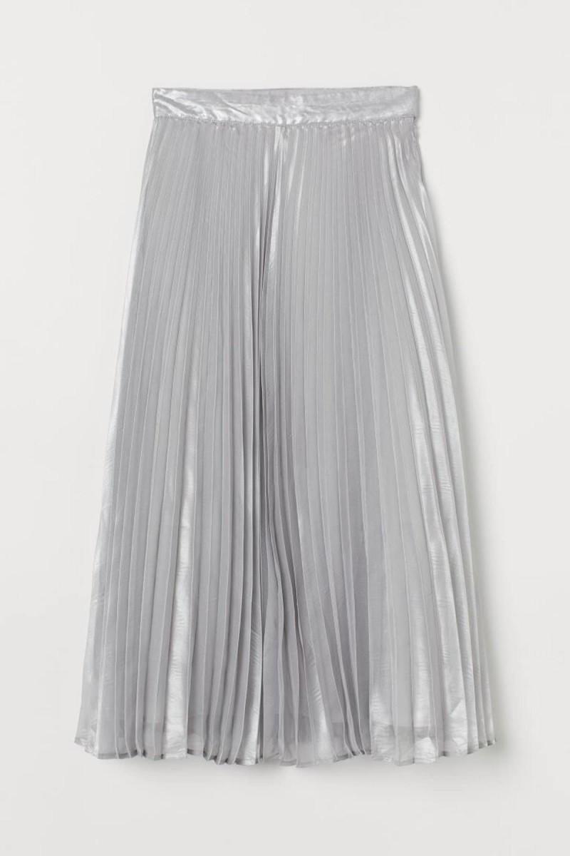 μεταλλιζέ πλισσέ φούστα