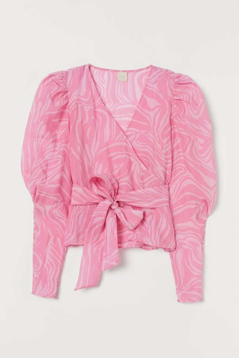 εμπριμέ ροζ πουκάμισο