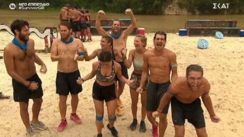 Survivor 4: Νικήτρια η Μπλε ομάδα στον αγώνα με έπαθλο φαγητό