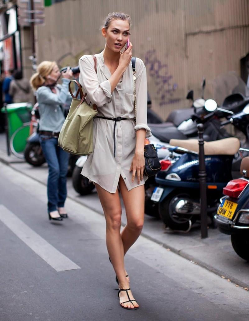 μπεζ shirt dress με ζώνη