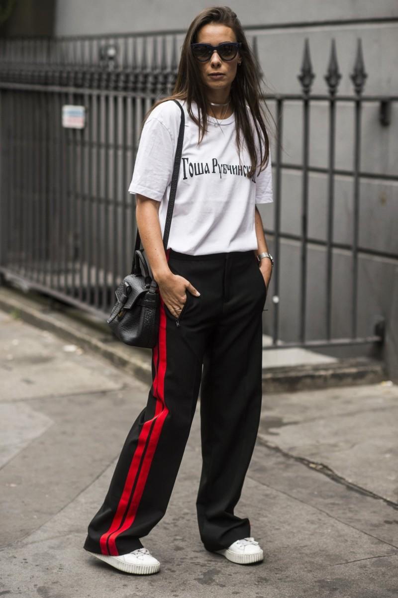 sporty track pants