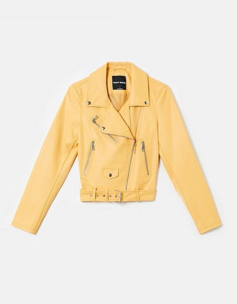 κίτρινο biker jacket