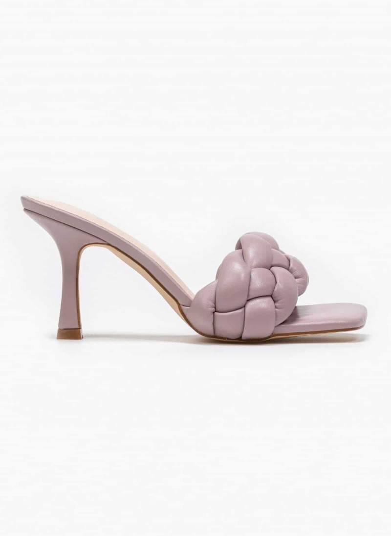 dusty pink mules