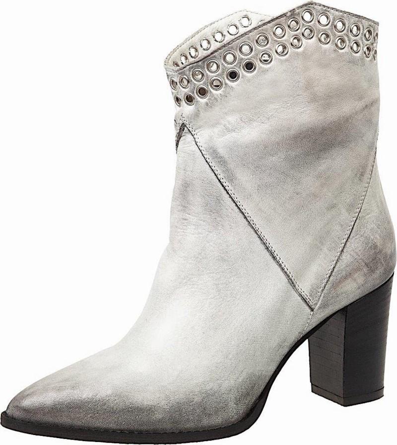 ξεβαμμένες λευκές μπότες