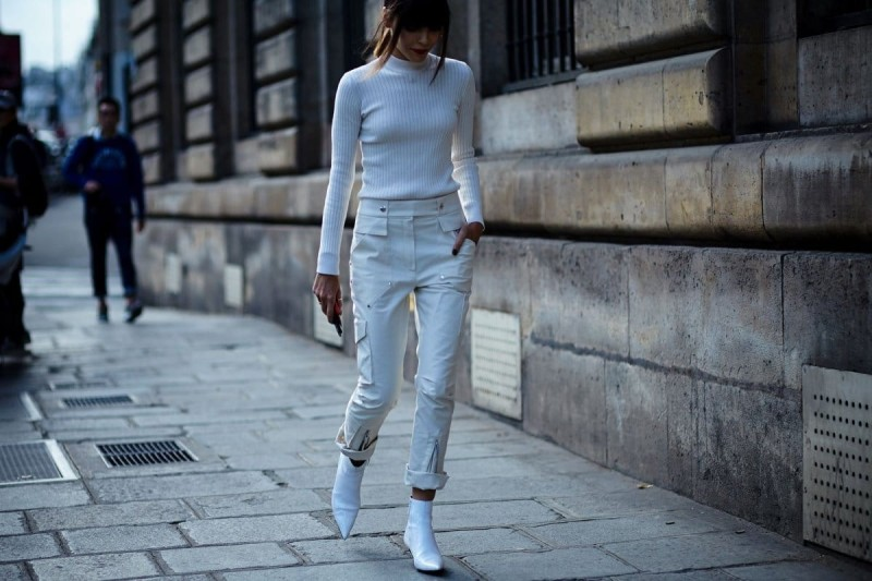 total-white look