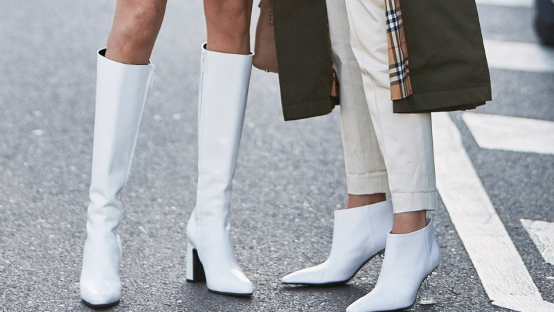 white boots street style