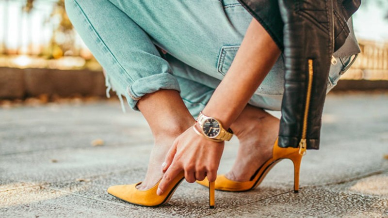 High heels street style
