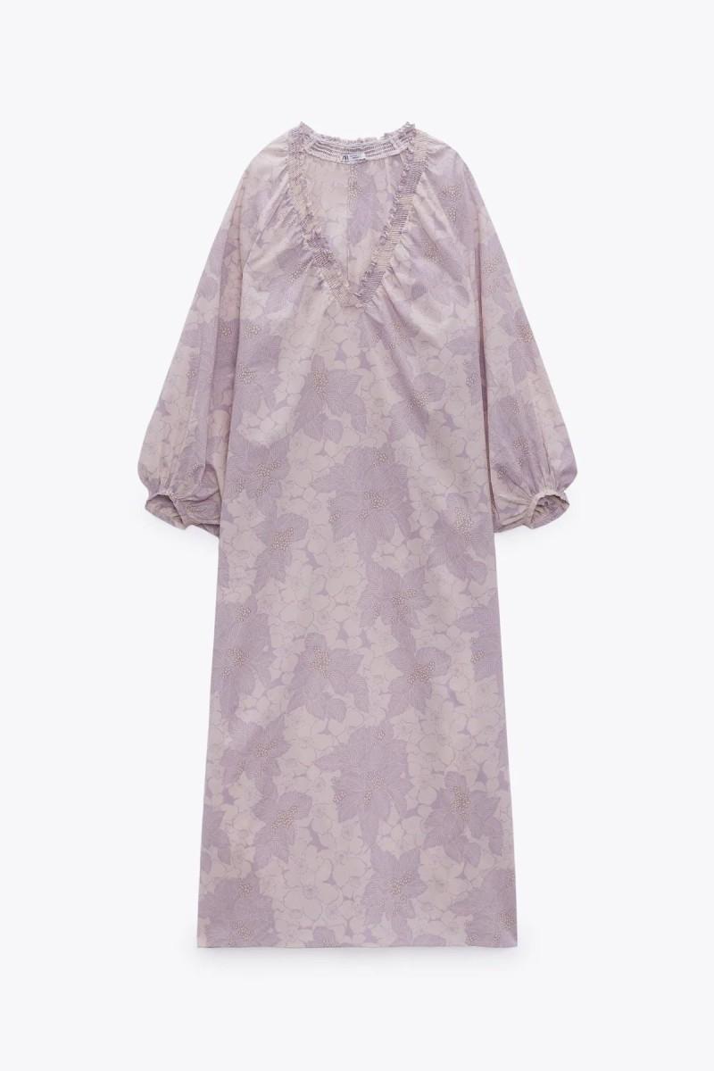μάξι μοβ φόρεμα