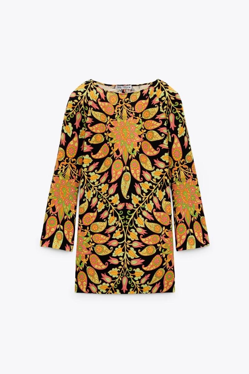 μίνι φόρεμα με εμπριμέ μοτίβα