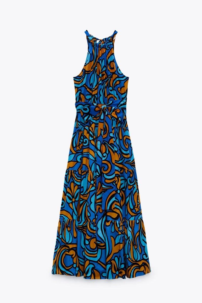 φόρεμα μάξι εμπριμέ