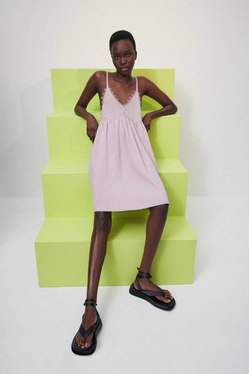 μοβ πλεκτό φόρεμα