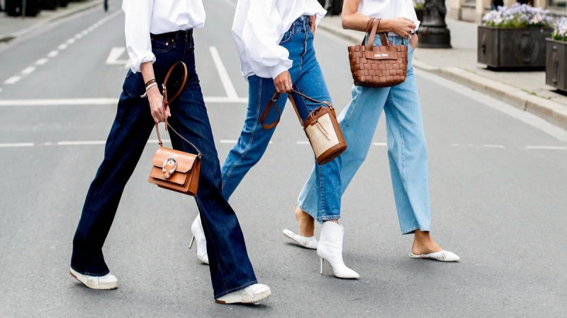 τζιν παντελόνια street style