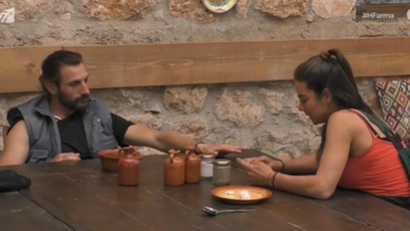 Φάρμα: Ερωτικό καυγαδάκι μεταξύ Κυριακής και Ντούπη