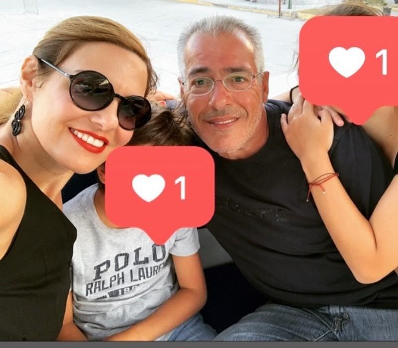 Φαίη Μαυραγάνη Η σπάνια φωτογραφία της με τον Νίκο Μανέση