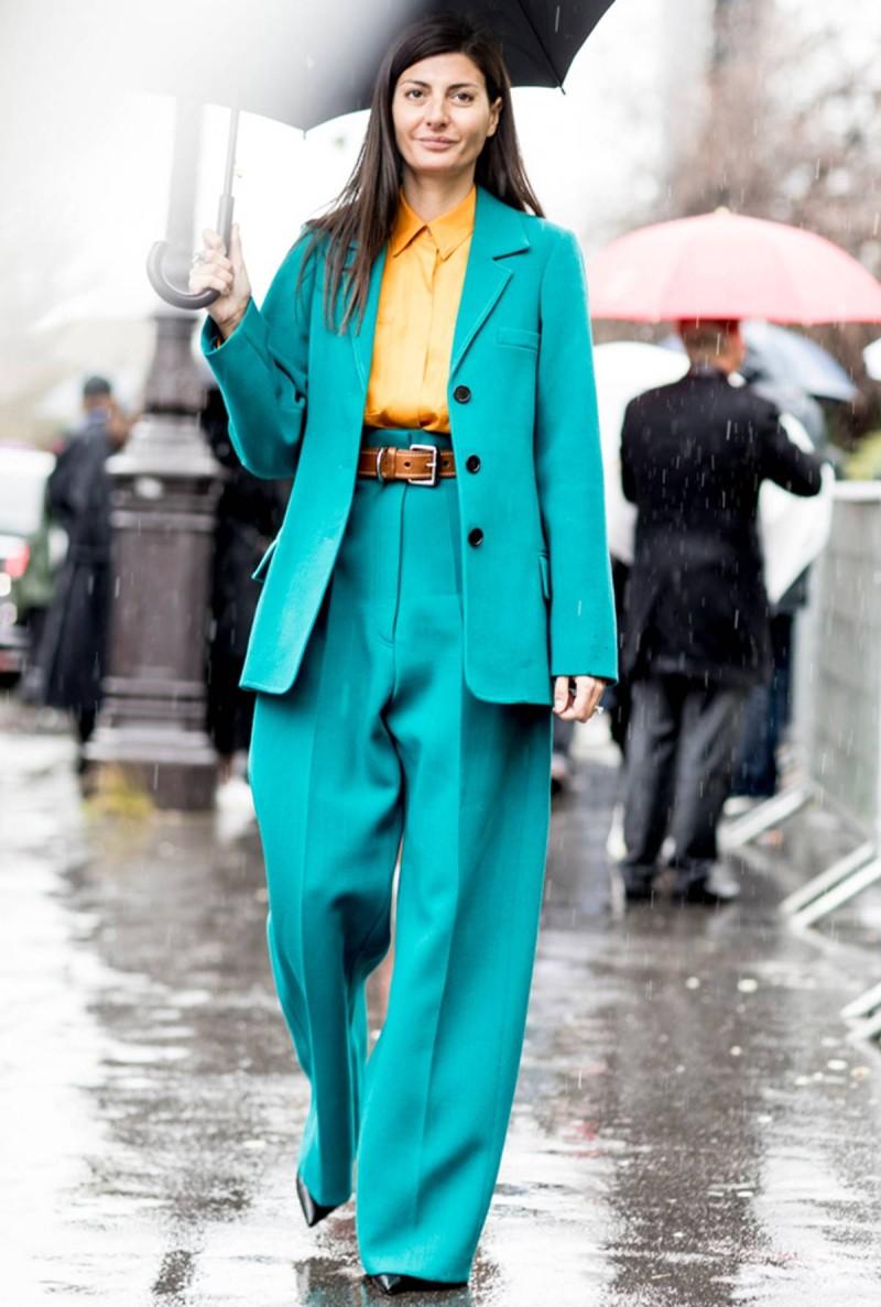 πράσινο oversized κοστούμι