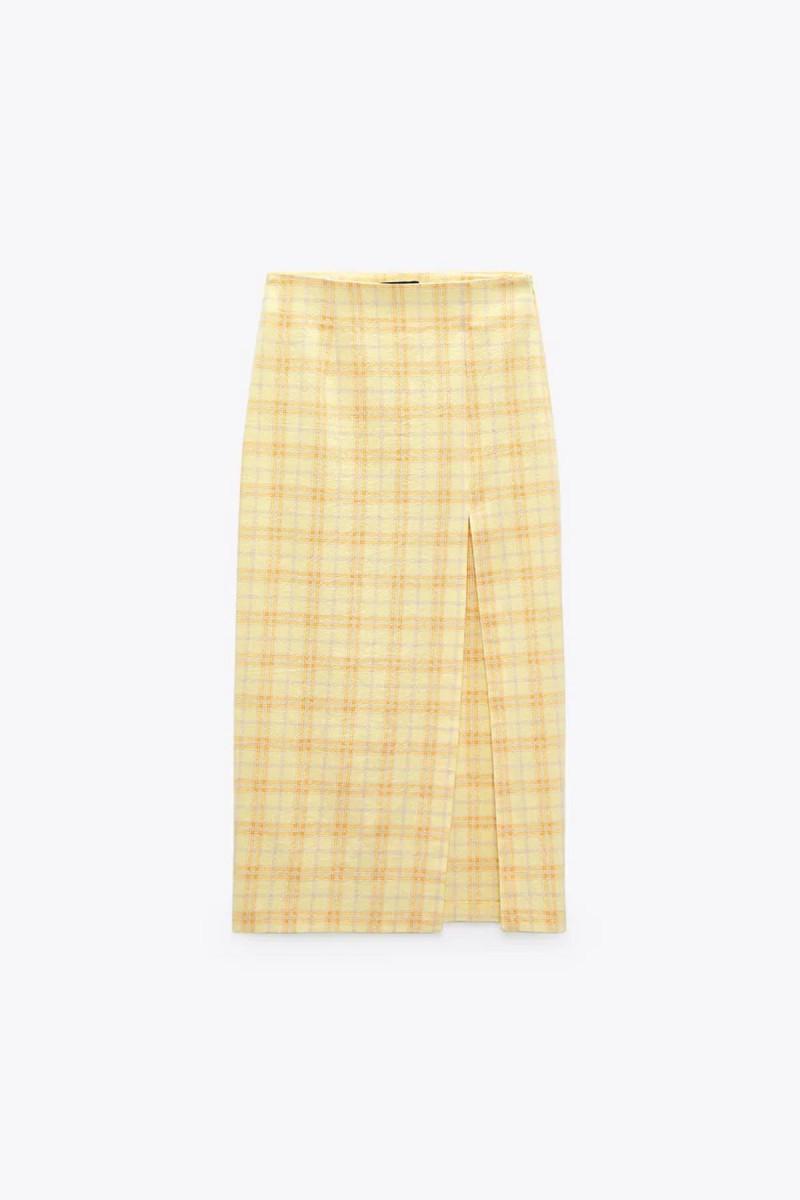 Κίτρινη φούστα Zara