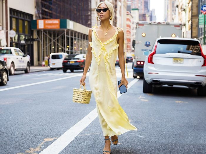 lingerie dress κίτρινο