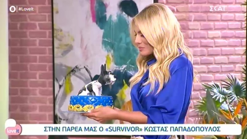 Survivor 4: Η τούρτα που έκανε δώρο ο Κώστας Παπαδόπουλος στην Ιωάννα Μαλέσκου