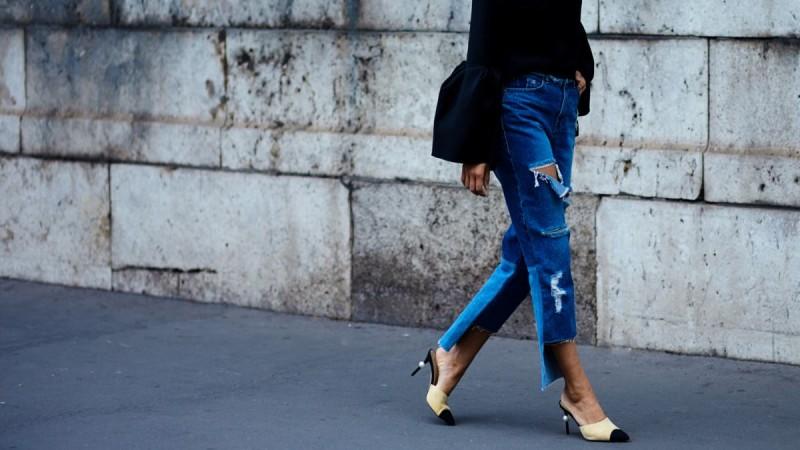 street style denim mules