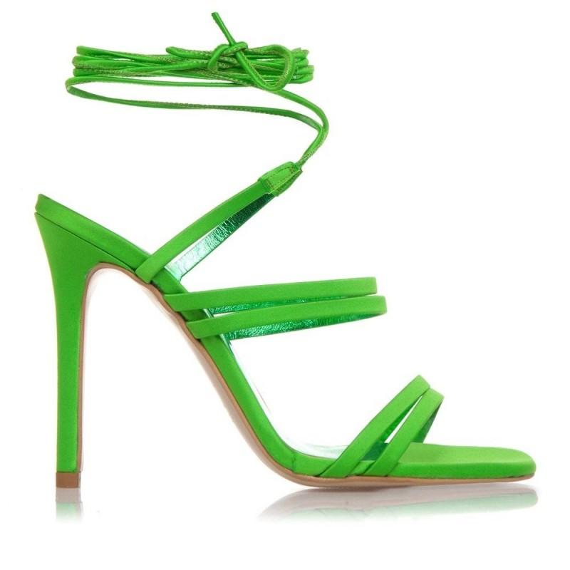 πράσινα strappy πέδιλα
