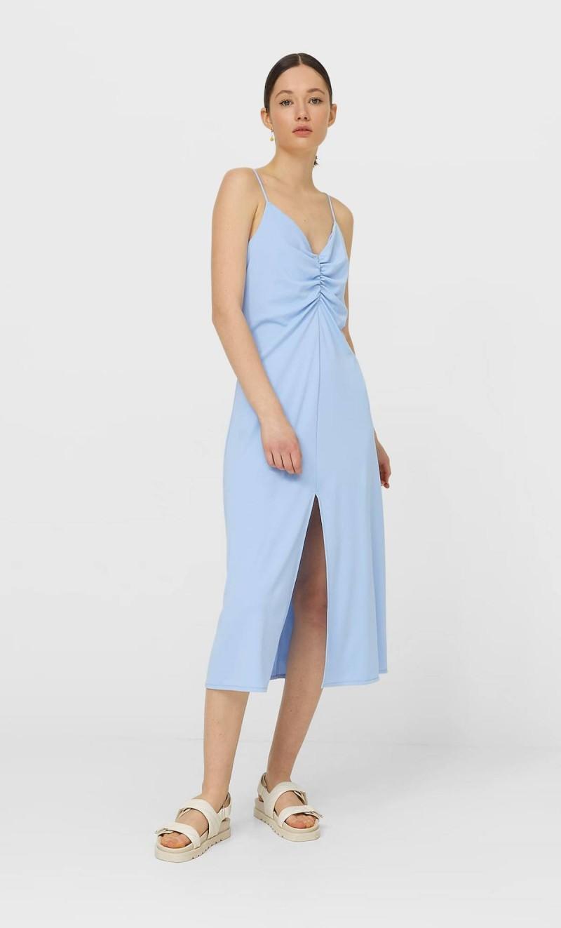 lingerie dress γαλάζιο