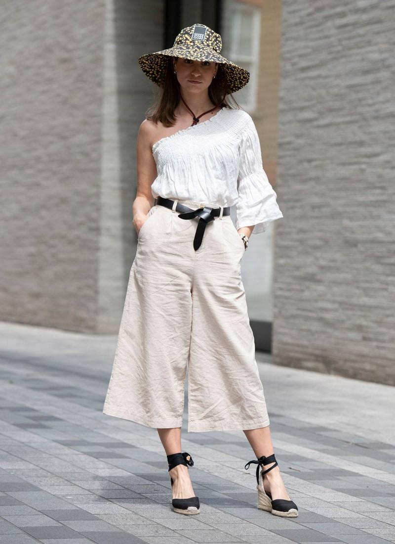 λευκό σύνολο street style