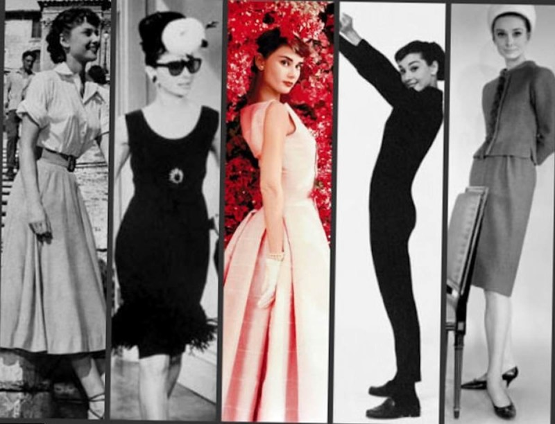 Audrey Hepburn διαφορετικά στυλ