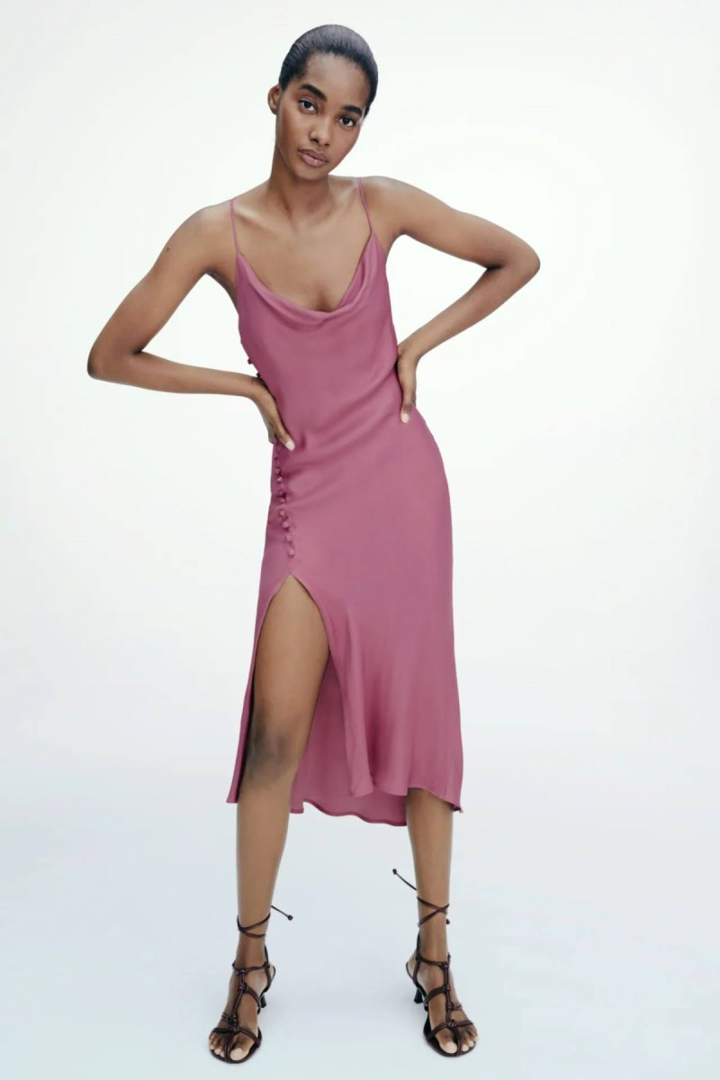 lingerie dress dusty pink