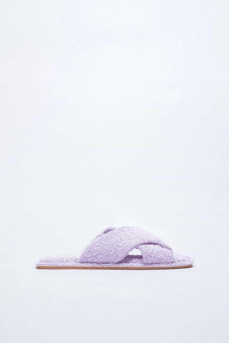μοβ παντόφλες πετσετέ