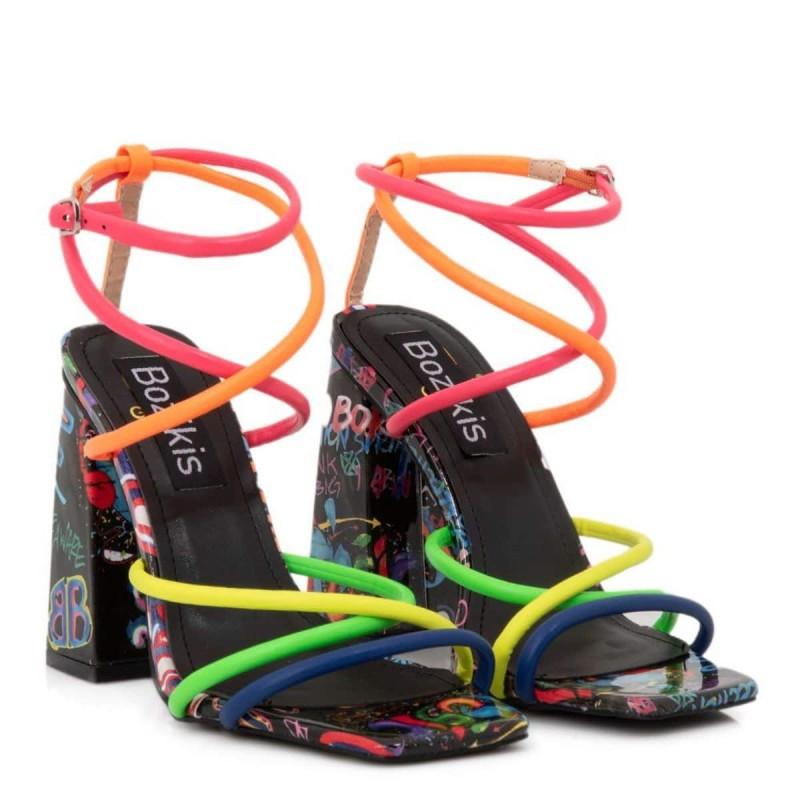 strappy χρωματιστά πέδιλα