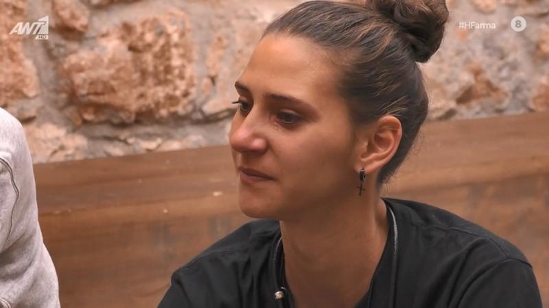 Φάρμα: Ξέσπασε σε κλάματα η Μαρία με τα λόγια του Ντούπη