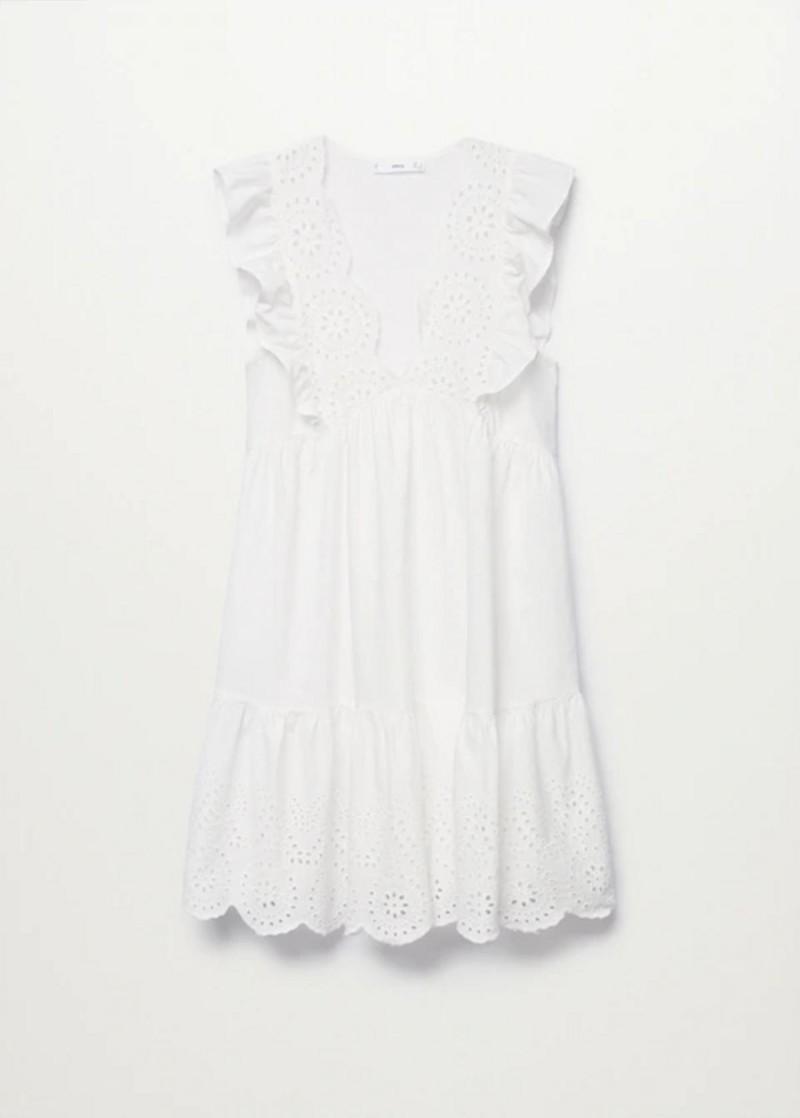 λευκό μίνι φόρεμα