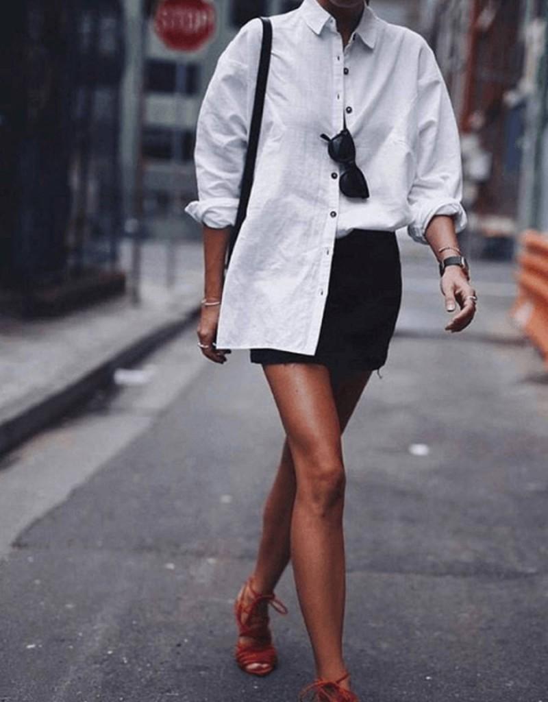 μίνι φούστα με πουκάμισο