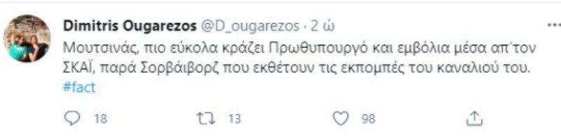 Δημήτρης Ουγγαρέζος έκραξε δημόσια τον Νίκο Μουτσινά