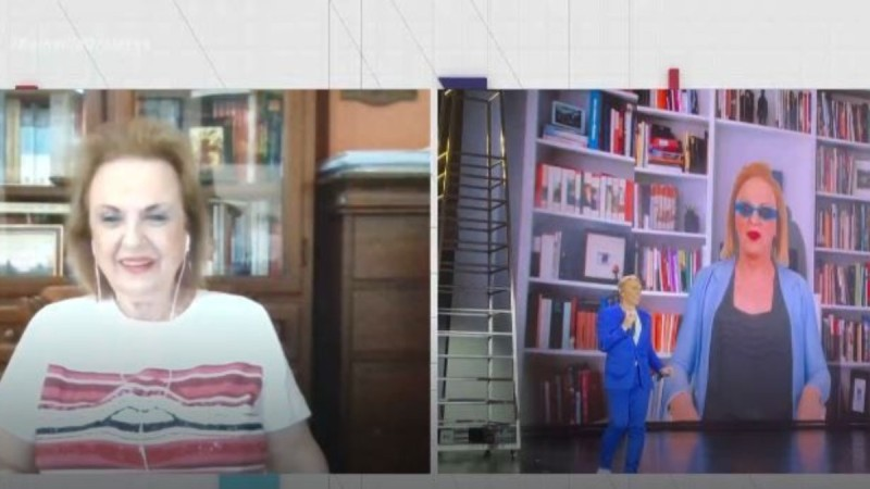 Ματίνα Παγώνη: Η απίστευτη αντίδραση της όταν είδε τον Τάκη Ζαχαράτο να την μιμείται