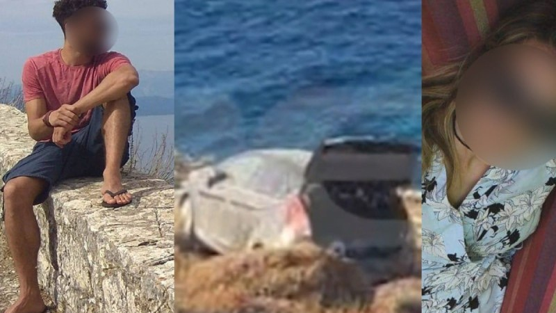 Φολέγανδρος: Ανατριχιάζει η φωτογραφία που δείχνει το αυτοκίνητο στα βράχια