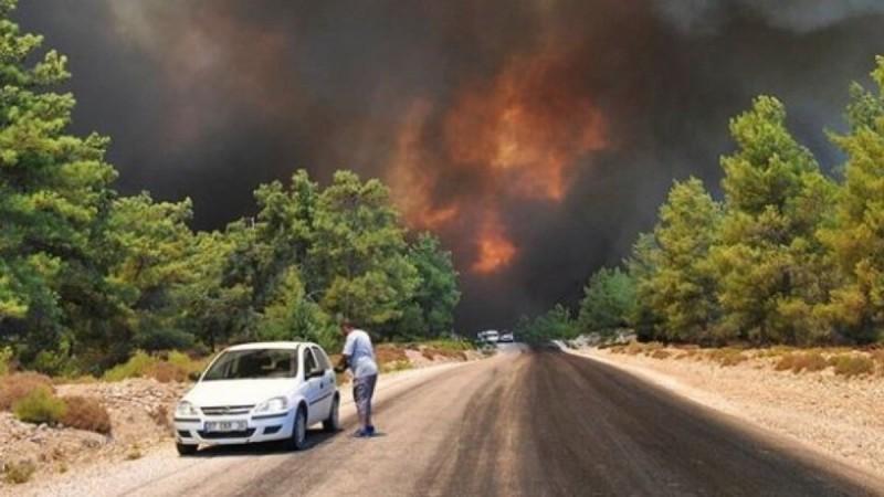 Πυρκαγιά στη Ζήρια Αχαΐας