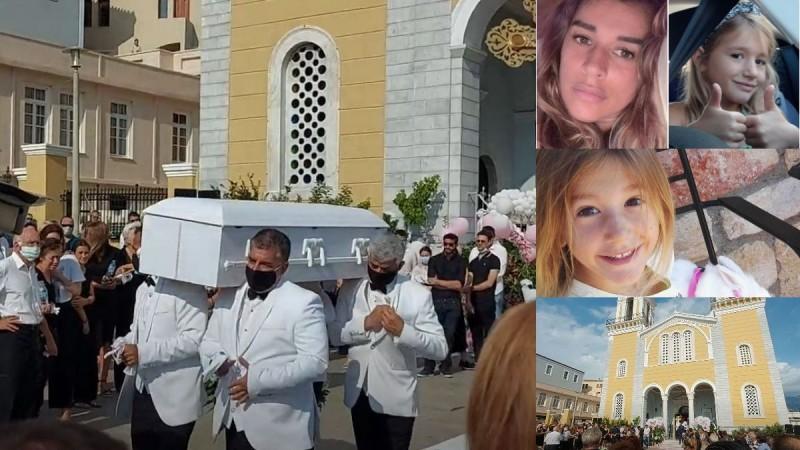 Σπαραγμός στην κηδεία της 7χρονης Αναστασίας, της ανιψιάς της Έρρικας Πρεζεράκου