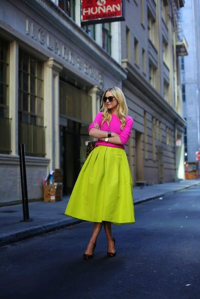 neon φούστα