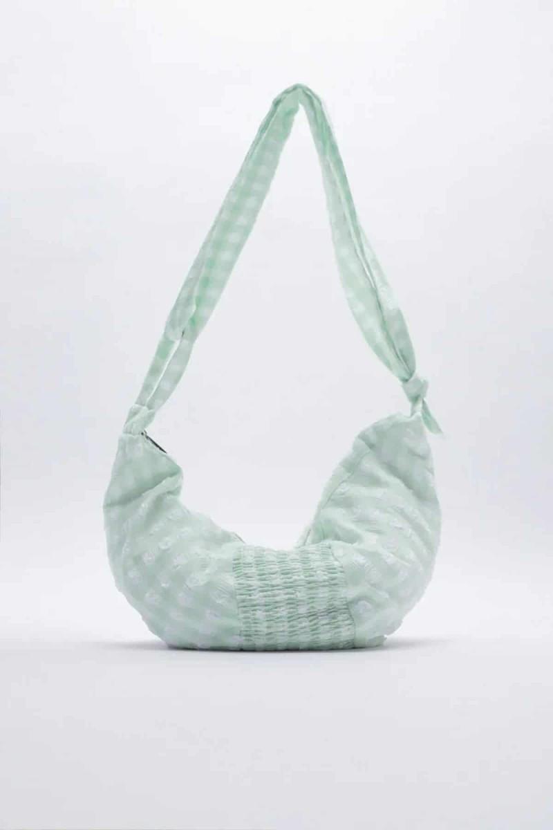 πράσινη καρό τσάντα