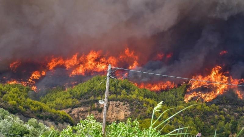 Φωτιά στην Ηλεία: Εγκλωβισμένοι άνθρωποι στο χωριό Κλαδέος