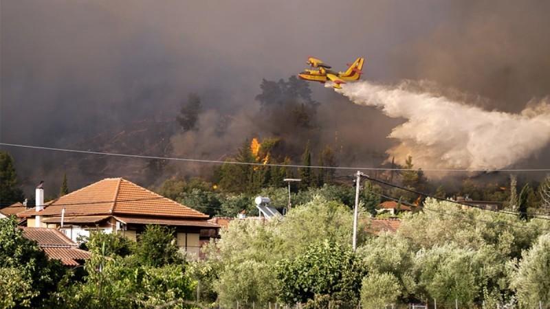 Φωτιά και στην Αρχαία Ολυμπία - Εκκενώθηκαν περιοχές