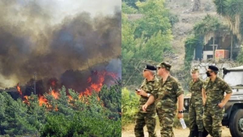 Φωτιά στην Ηλεία: Στην μάχη ρίχνεται και ο στρατός