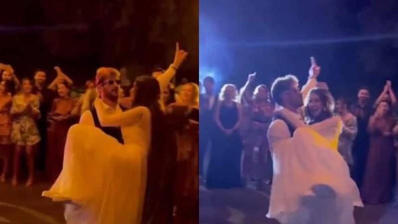 Γάμος Πετρετζίκη: Ο ξέφρενος χορός που Άκη με γυαλιά ηλίου - Αφιέρωσε τραγούδι στην αγαπημένη του